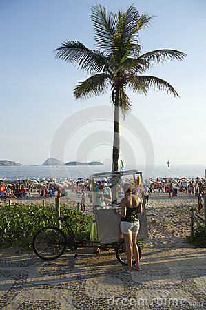Brazilian Beach Vendor Rio de Janeiro Brazil Editorial Image