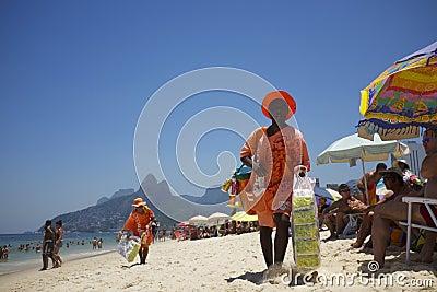 Brazilian Beach Vendor Rio de Janeiro Brazil Editorial Photography