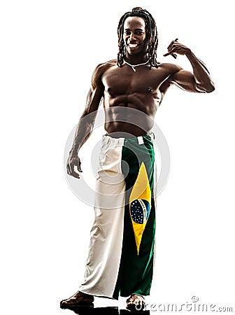 Brazilian  black man call me gesture silhouette