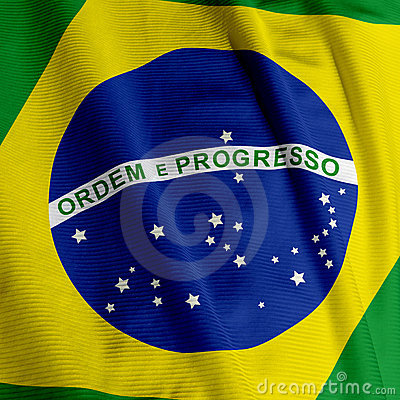Brazilian Flag Closeup
