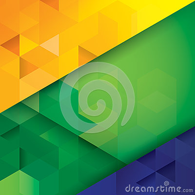Brazilian flag concept vector background.