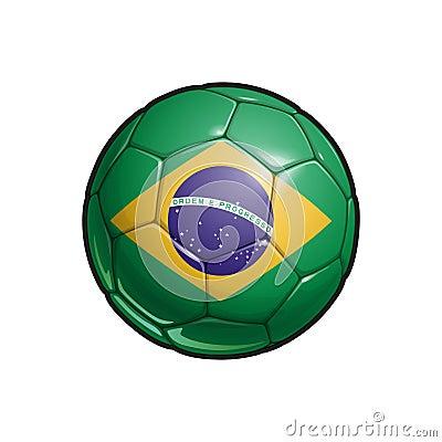 Free Brazilian Flag Football - Soccer Ball Stock Photos - 119636983