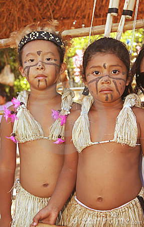 Brazilian Indian Girls In Typical Costumes Editorial Image ...