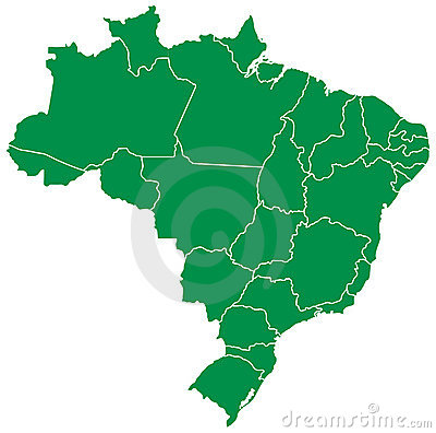 Free Brazilian Map Royalty Free Stock Photos - 7423888