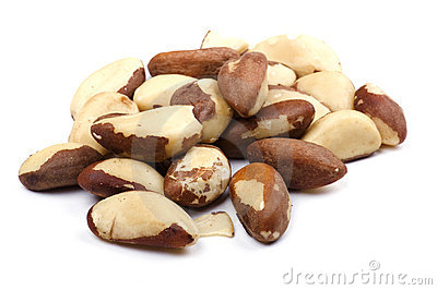 Brazilian nut on white