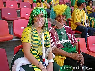 Brazilian soccer fans Editorial Stock Photo