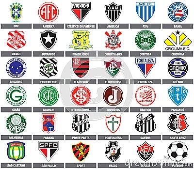 Brazilian soccer teams Editorial Image