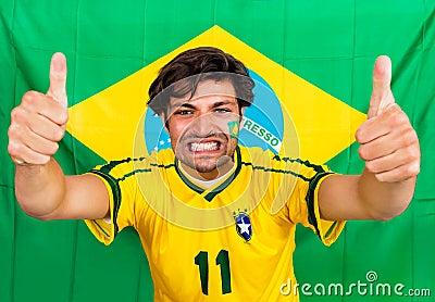 Brazilian sports fan
