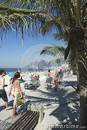 Brazilian Women Ipanema Beach Rio de Janeiro Editorial Image