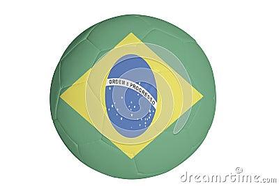 Brazillian flag graphic on football