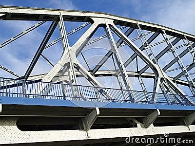 Brücke über dem Fluss die Weichsel