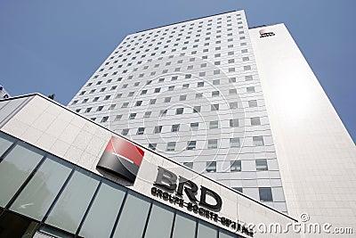 BRD Groupe Societe Generale GSG headquarters Editorial Image