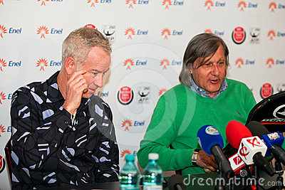 BRD Nastase Tiriac Trophy press conference Editorial Photography
