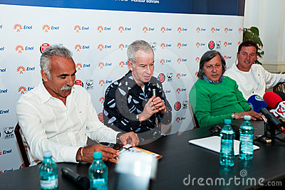BRD Nastase Tiriac Trophy press conference Editorial Stock Photo