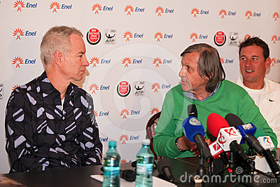 BRD Nastase Tiriac Trophy press conference Editorial Stock Image