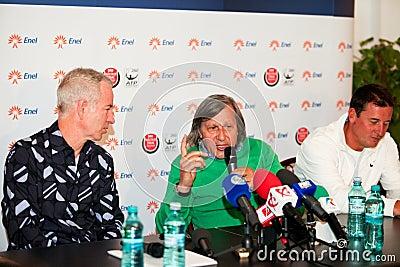 BRD Nastase Tiriac Trophy press conference Editorial Stock Photo