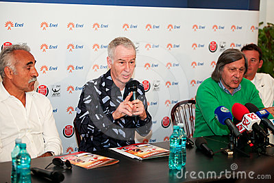 BRD Nastase Tiriac Trophy press conference Editorial Image