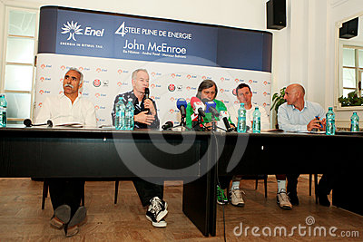 BRD Nastase Tiriac Trophy press conference Editorial Stock Image