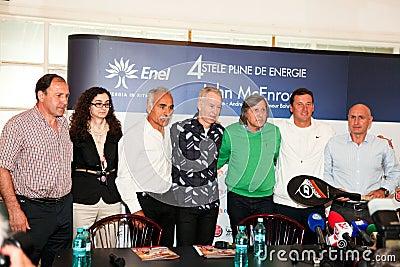 BRD Nastase Tiriac Trophy press conference Editorial Image