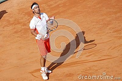 BRD Open 2012 Final : Gilles Simon- Fabio Fognini Editorial Stock Photo