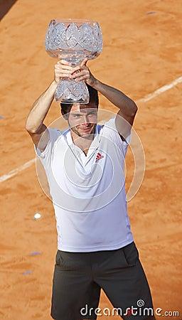 BRD Open 2012 Final : Gilles Simon- Fabio Fognini Editorial Photo