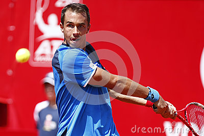 BRD Open 2013 Singles Semi-Final:Lukasz Rosol-Gilles Simon Editorial Photography