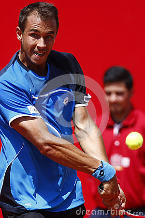 BRD Open 2013 Singles Semi-Final:Lukasz Rosol-Gilles Simon Editorial Stock Photo