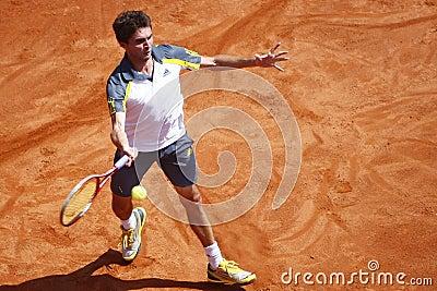 BRD Open 2013 Singles Semi-Final:Lukasz Rosol-Gilles Simon Editorial Photo