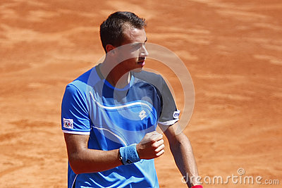 BRD Open 2013 Singles Semi-Final:Lukasz Rosol-Gilles Simon Editorial Image