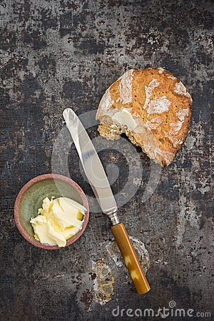 Free Bread And Butter Royalty Free Stock Photo - 49837215