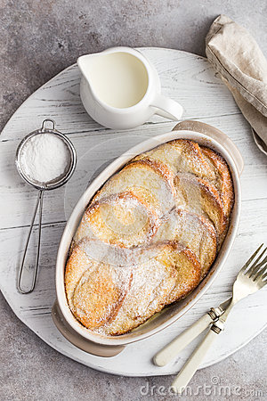 Free Bread And Butter Pudding Royalty Free Stock Photo - 89885665