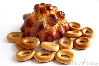Bread and bagels .