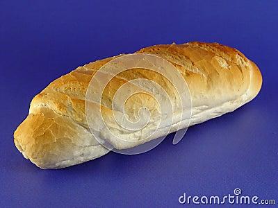 Bread on blue