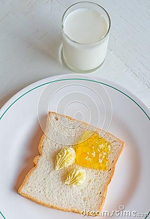 - bread-butter-jam-white-plate-22827974