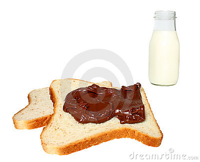 Bread,chocolate and milk