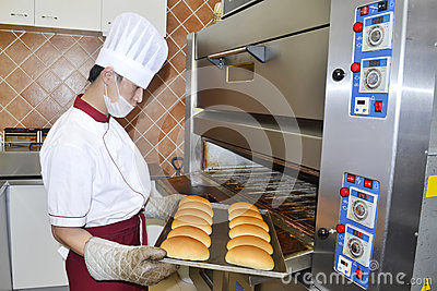Bread cooking Editorial Photo