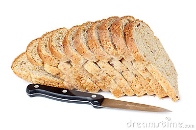 Bread cut and knife