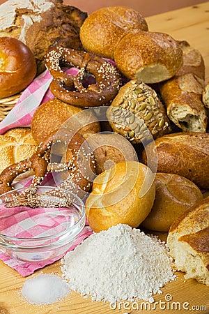Bread, flour, water and salt