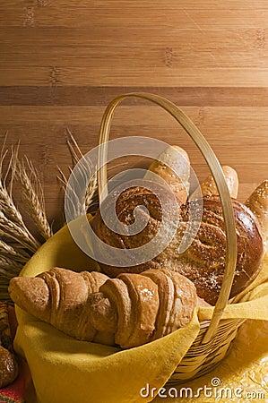 Bread food in a basket
