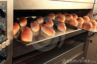 Bread fresh from oven
