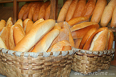 Bread full of basket