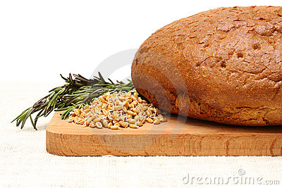 Bread, germinated wheat and rosemary