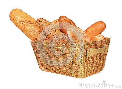 Bread in a gold basket