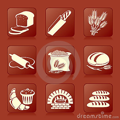 Free Bread Icons Stock Photography - 13796132