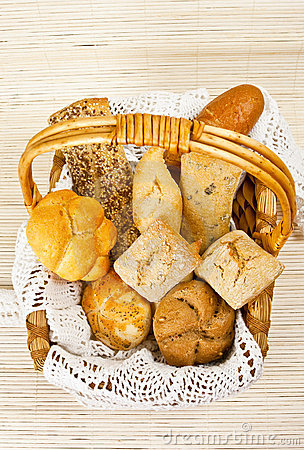 Free Bread In Straw Basket Royalty Free Stock Photo - 8116805