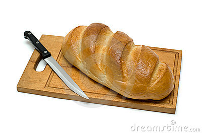 Bread with knife