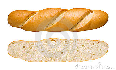Bread Loaf & Slice (with clipping path)