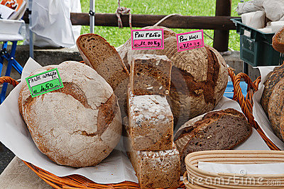 Bread on local market