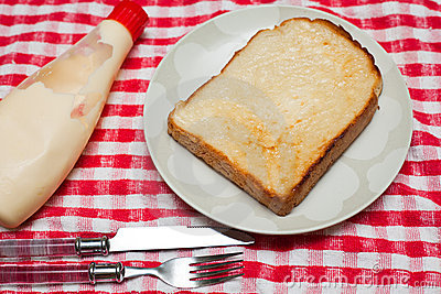 Bread with mayo