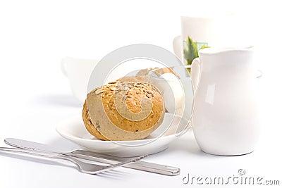 Bread, milk and mozzarella